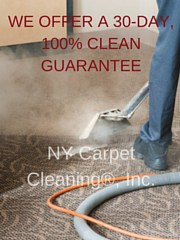 a 30-day, 100% clean guarantee - New York Carpet Cleaning, Inc