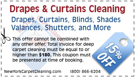 curtains & drapes cleaning coupon